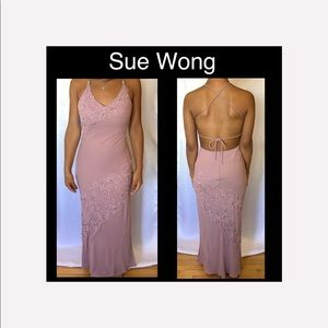 🌺Sue Wong  Mauve Pink Beaded Size 4 Dress🌺